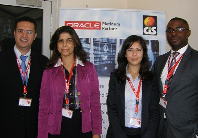 L-r) Charbel Bou-Id, managing director, CIS Nigeria, Nelly Saoud, value pre-sales and business development manager, Lina Salameh, business development manager Oracle solutions, and Ekhator Osaretin Moses, director sales all of Computer Information System (CIS) at Oracle Africa Innovation Day 2014 held in Lagos yesterday.