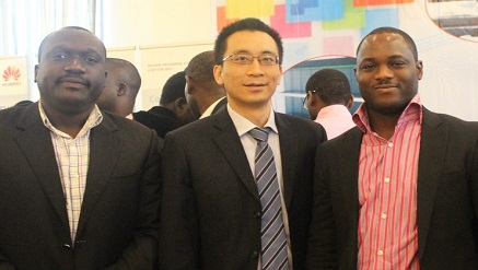 Huawei team at a recent event in Nigeria
