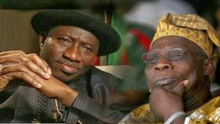 President Goodluck Jonathan and Olusegun Obasanjo, former President
