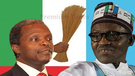 Osinbajo and Buhari, Vice Presidential and Presidentail flag bearers of APC