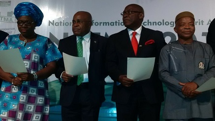 *Chijioke Anthony Eke, chairman and co-founder, Sidmach Technologies Nigeria Limited (2nd from left), during the NCS Professional Fellowship ‎Award at NITMA 2015