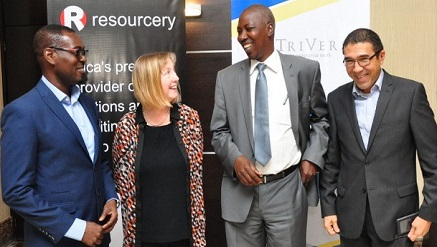 ‎ (‎L-r): Motayo Williams, managing director, Triversa; Judith Jone, Managing Director, ATE Enterprises, UK; Aaron Yaduma, Principal System Analyst, Central Bank of Nigeria and Andrew Ejoh, Executive Director, Resourcery Plc at the recently held Enterprise Architecture Seminar for Nigeria Banking Industry in Lagos.