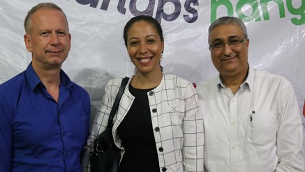 (L-r): Ingo Herbert, German Consul General in Lagos; Nkemdilim Begho, CEO, Future Resources Software Limited, and Atul Kshetry, a business mentor and founder of IDM Services Plc, during CFA startup hangout at the weekend.