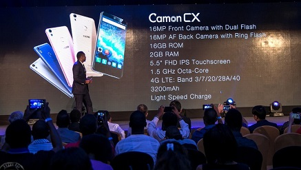 Guests at the launch of Tecno Camon CX in Kenay, recently