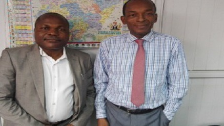 (L-r): Francis Okoh Gilat Satcom's VP sales in Nigeria and Yemi Oshodi, chief operating officer at ICSL.