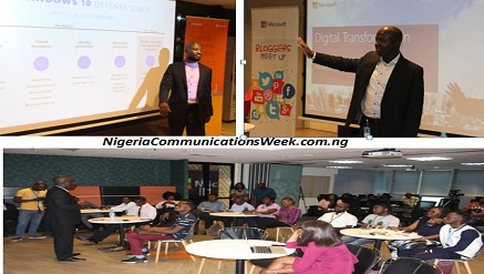 Cross section of bloggers who participated at the recent meeting organized by Microsoft Nigeria at its Lagos office.