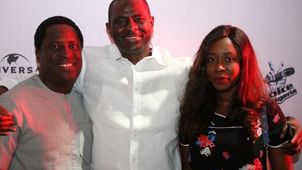 (L-r): Erhumu Bayagbon, acting head, Corporate Communications & CSR, Airtel Nigeria; Segun Ogunsanya, managing director/CEO, Airtel Nigeria and Opeyemi Lawal, senior manager, Brand Activation & Sponsorships, Airtel Nigeria at the exclusive Live Show screening of Airtel The Voice Nigeria in Lagos.