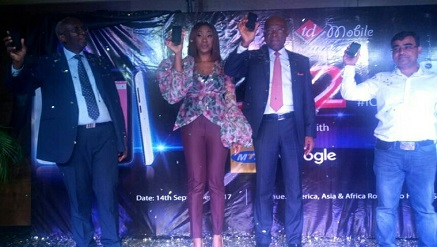 (L-r): Dr. Ernest Ndukwe, former EVC of NCC; Mrs. Gozy Ijogun, managing director, TD Mobile; Leo Stan-Ekeh, chairman of Zinox Group and representative of the key partners, during the launch of ICE 2 in Lagos.