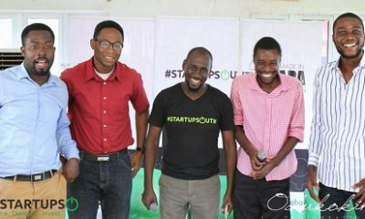 *Uche Aniche, convener of #StartupSouth (m) flanked by guests at the #StartupSouth3 pre-conference - the Enugu edition.